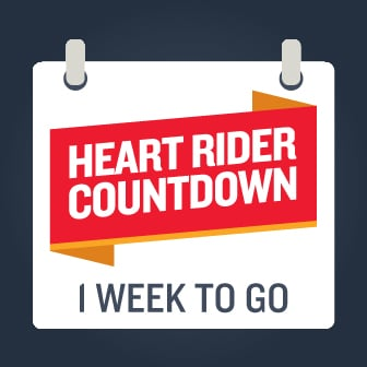 Heart Rider countdown one week to go