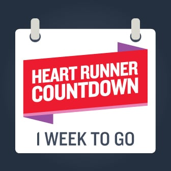 Heart Runner countdown one week to go