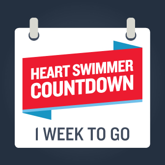 Heart Swimmer countdown one week to go