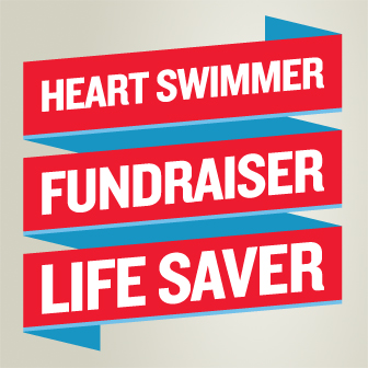 Heart Swimmer bucket wrap