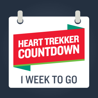 Heart Trekker countdown one week to go