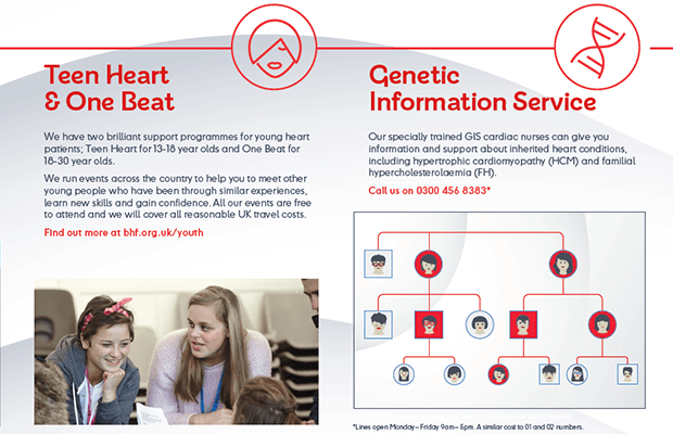 New-look leaflet details BHF patient support