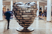 Heart of Steel sculpture
