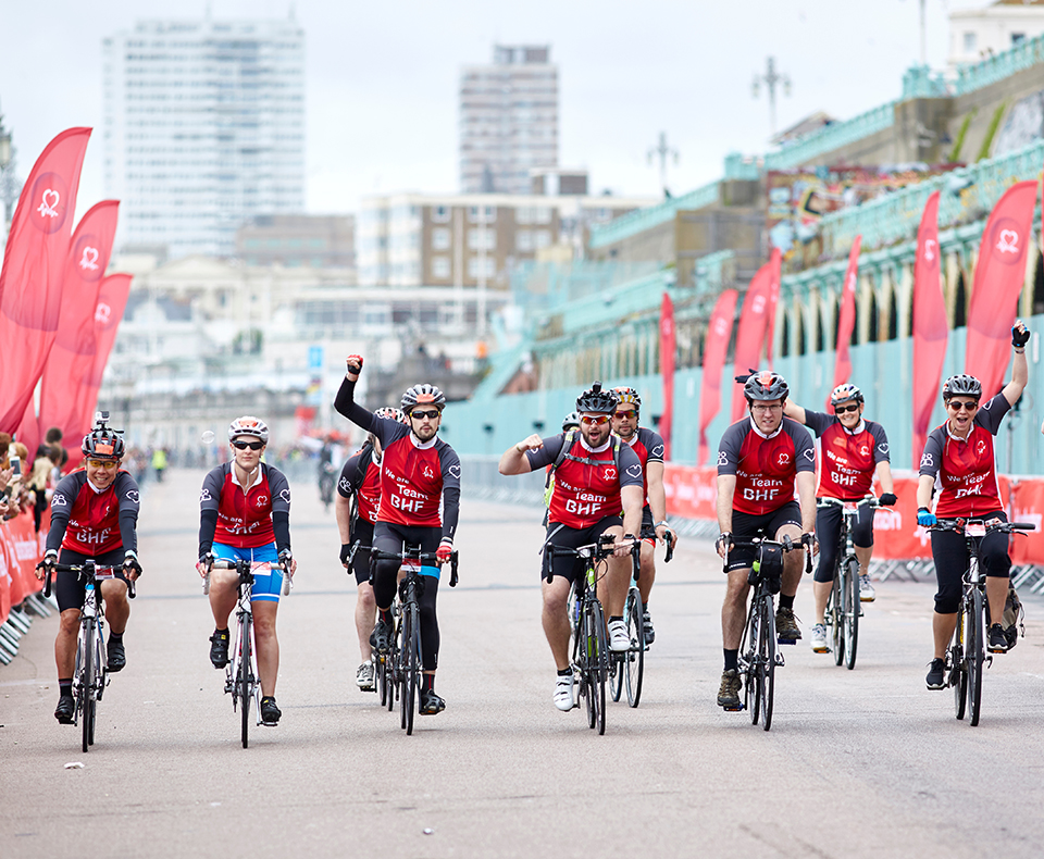 Team BHF on the London to Brighton 2018 route