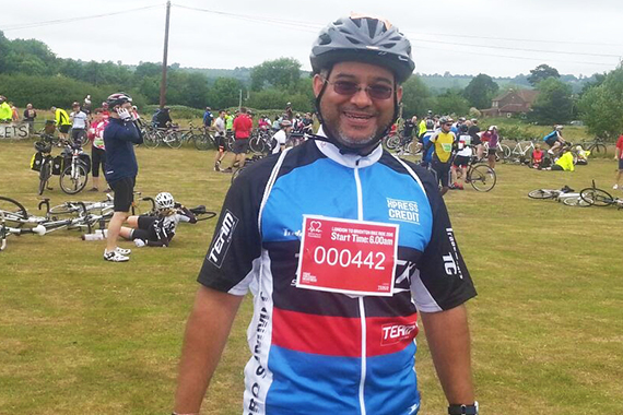 Sunil Shah at the L2B finish line