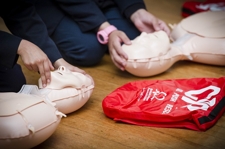 Get a CPR training kit for your school and train students BHF