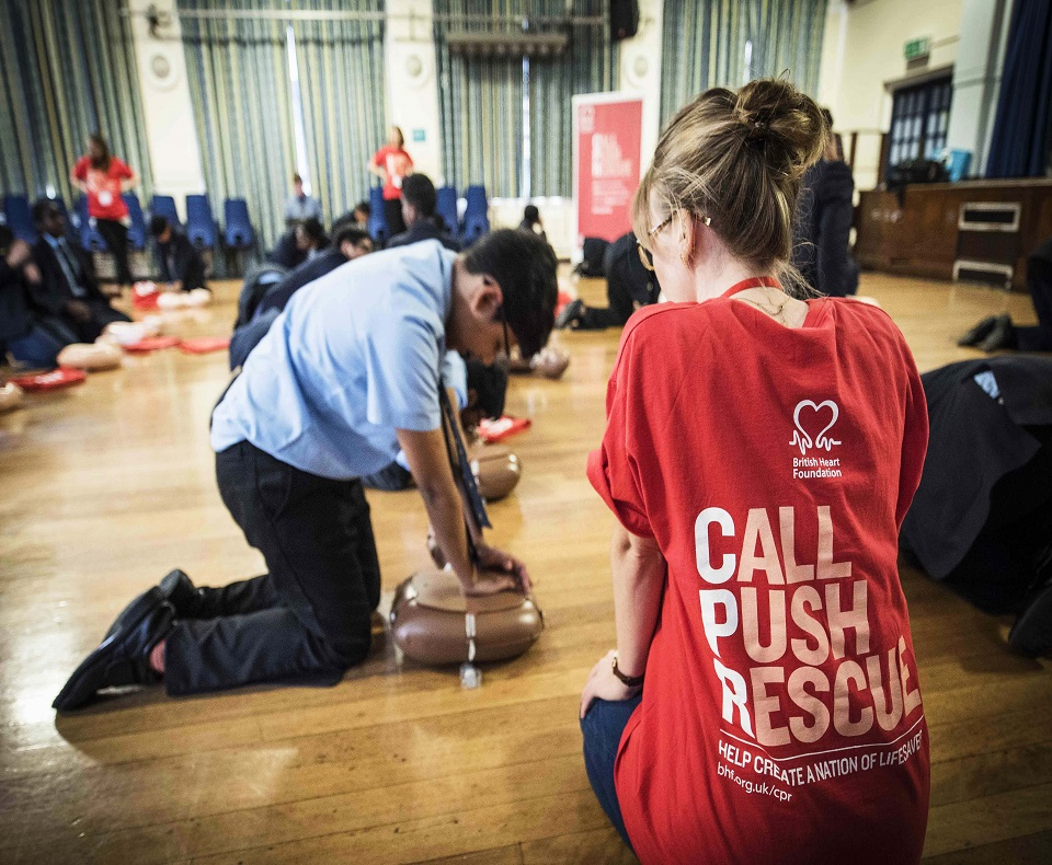 CPR Training for schools, train students in CPR BHF