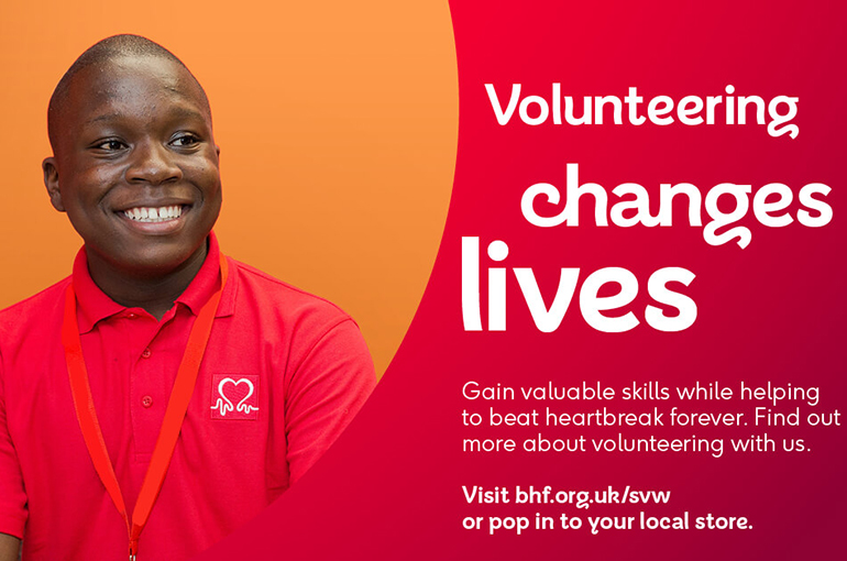 Volunteering changes lives poster