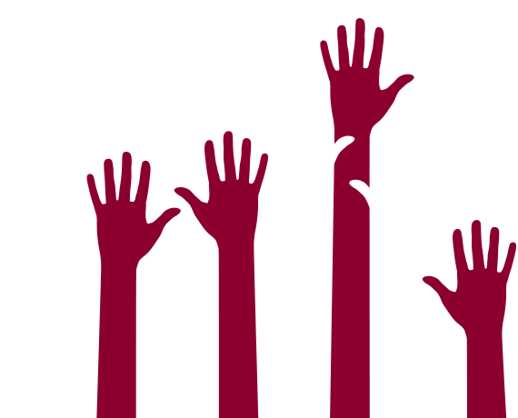 Graphic of hands reaching up