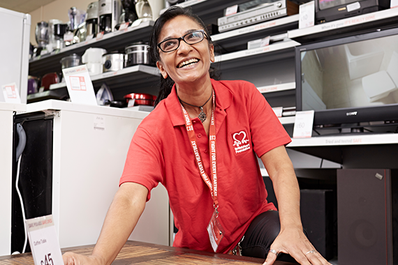 BHF shop worker
