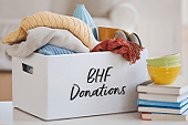 box of BHF donations