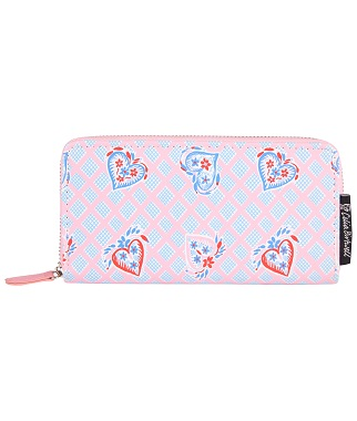 Pink and Blue Heart Print Purse from the British Heart Foundation and Celia Birtwell Collection