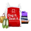 Donate small items like shoes, bags and clothes to the BHF
