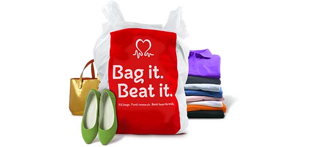 Donate small items to the BHF such as bags, shoes and clothes