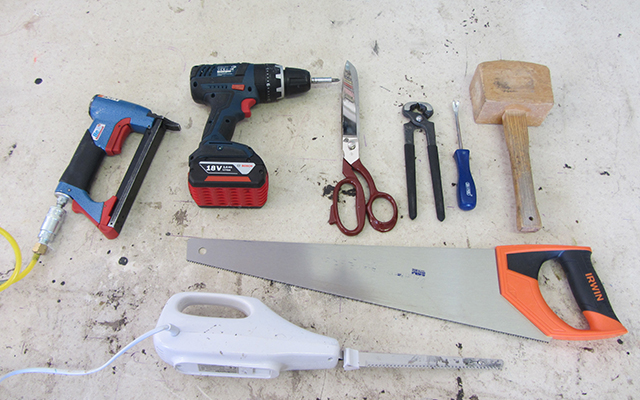 Tools you will need for upholstery