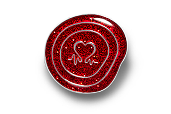 Glittery show some love pin badge