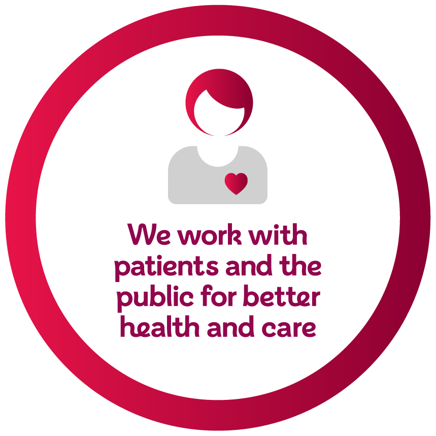 we work with patients and the public for better healthcare