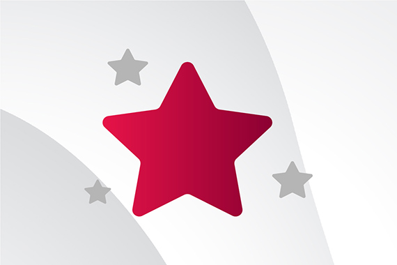 Strive for excellence star icon