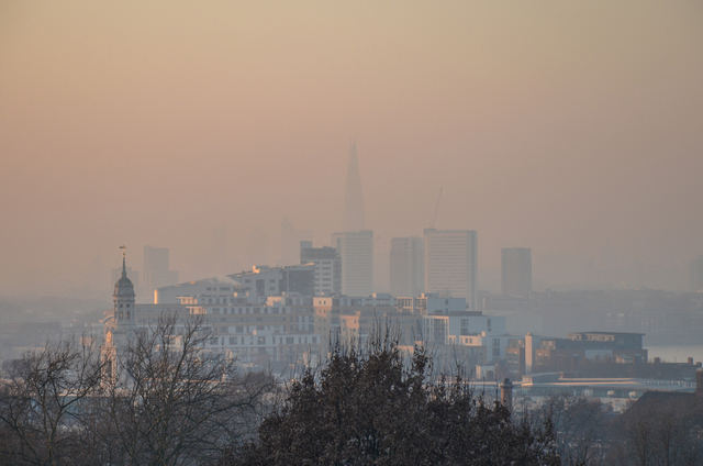 Hazy London Skyline