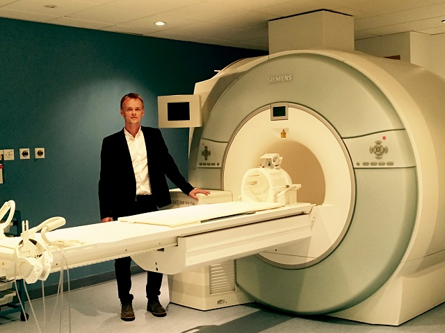Dr Scott Semple with MRI