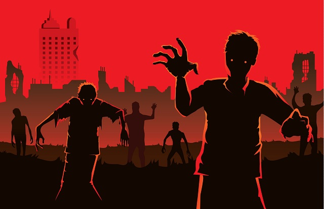 An illustration of zombies.