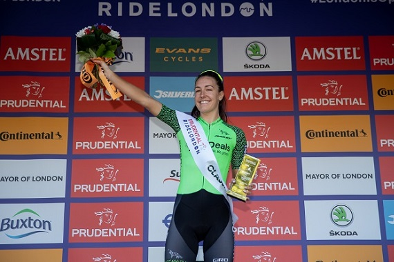 Picture of Olympian Dani Rowe at Prudential RideLondon