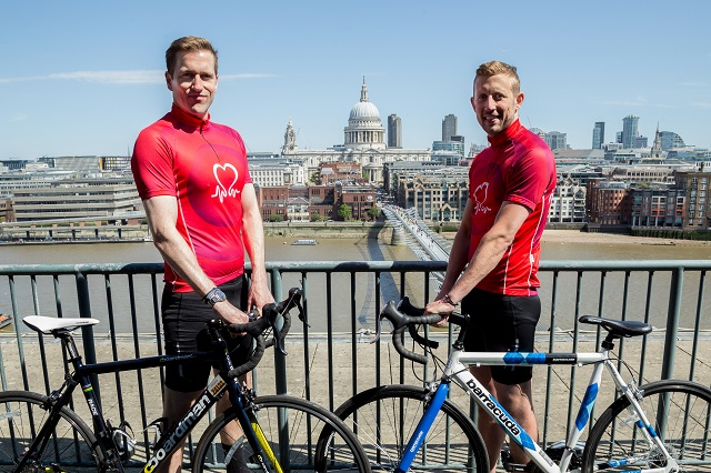 (L-R) Wilf and George Frost announce Miles Frost Fund as a charity partner for Prudential RideLondon-Surrey 100