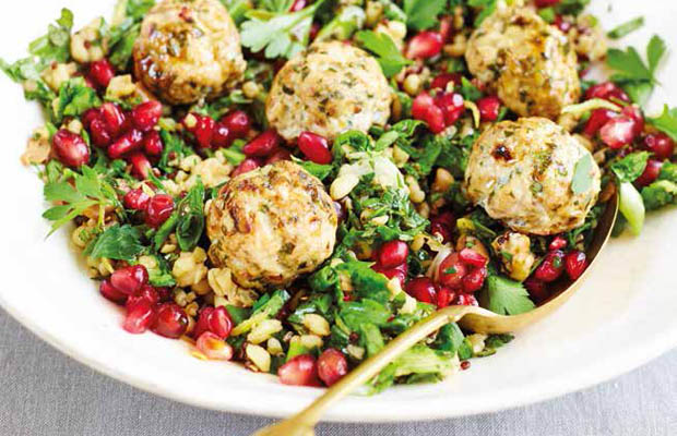 Meatballs with tabbouleh by Pippa Middleton, featured in Heartfelt book