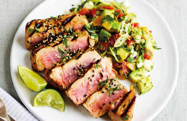 Asian tuna with avocado salsa by Pippa Middleton, featured in Heartfelt book